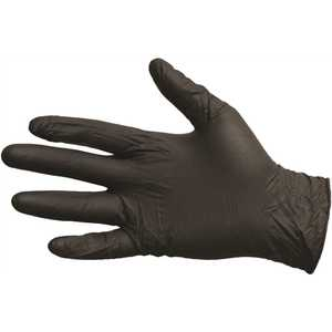 ProGuard 8642S Disposable Small Black Nitrile Powder-Free Gloves - pack of 100