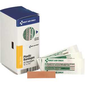 SMARTCOMPLIANCE FAE-3115 3/8 in. x 1-1/2 in. Adhesive Plastic Bandages Refill - pack of 40