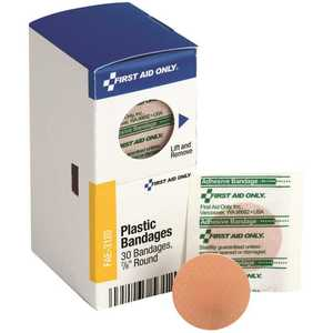 SMARTCOMPLIANCE FAE-3120 7/8 in. Round Adhesive Plastic Bandages Refill - pack of 30
