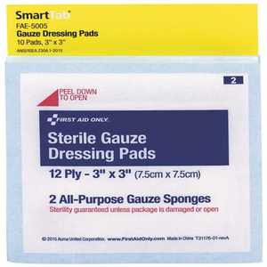 SMARTCOMPLIANCE FAE-5005 3 in. x 3 in. Sterile Gauze Pads Refill - pack of 10