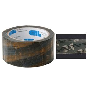 "CRL MT112W Orange 1-1/2"" Vinyl Molding Retention Tape - With Warning"