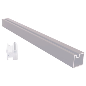 "CRL 6406518 Satin Anodized 18"" End Aluminum Counter Post"