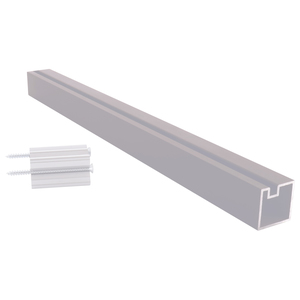 """CRL 6406518 Satin Anodized 18"""" End Aluminum Counter Post"""