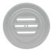 "CRL 834BA Brite Anodized Aluminum 5-5/16"" No-Draft Speak-Thru"