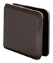 CRL BCU40RB Oil Rubbed Bronze Beveled Hole-in-Glass Style Wall Mount Heavy-Duty Glass Clamp