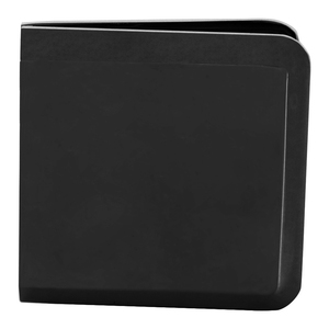 Matte Black Beveled Hole-in-Glass Style Wall Mount Heavy-Duty Glass Clamp
