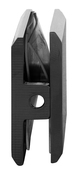 CRL BCU4MBL Matte Black Beveled Hole-in-Glass Style Wall Mount Heavy-Duty Glass Clamp