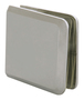 CRL BCU4BN Brushed Nickel Beveled Hole-in-Glass Style Wall Mount Heavy-Duty Glass Clamp