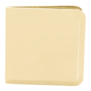Satin Brass Beveled Hole-in-Glass Style Wall Mount Heavy-Duty Glass Clamp