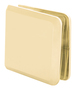 CRL BCU4SB Satin Brass Beveled Hole-in-Glass Style Wall Mount Heavy-Duty Glass Clamp