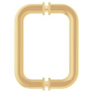 "CRL BM6X6BR Polished Brass 6"" BM Series Tubular Back-to-Back Pull Handle"