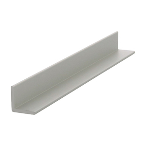 "CRL D1627BN Brushed Nickel 1/2"" Aluminum Angle Extrusion - 144"" Stock Length"