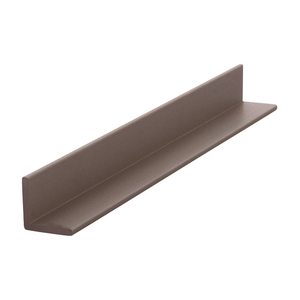 "CRL D1627BRZ Bronze Electro-Static Paint Finish 1/2"" Aluminum Angle Extrusion - 144"" Stock Length"