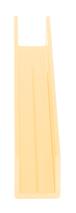 "CRL D321GA Gold Anodized 3/8"" Single U-Aluminum Channel - 144"" Stock Length"