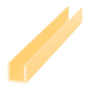 "Gold Anodized 3/8"" Single U-Aluminum Channel - 144"" Stock Length"
