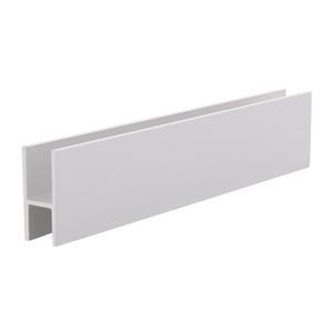 "CRL D610BA Brite Anodized Aluminum 'H' Bar for Use on All CRL Track Assemblies - 144"" Stock Length"