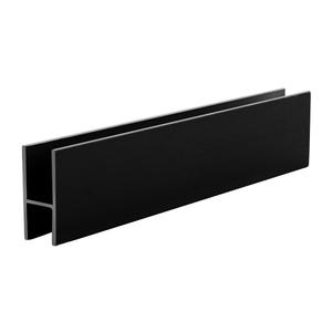 "CRL D610BL Flat Black Aluminum 'H' Bar for Use on All CRL Track Assemblies - 144"" Stock Length"