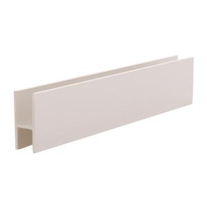 "CRL D610BN Brushed Nickel Aluminum 'H' Bar for Use on All CRL Track Assemblies - 144"" Stock Length"