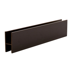 "CRL D610DU Duranodic Bronze Aluminum 'H' Bar for Use on All CRL Track Assemblies - 144"" Stock Length"