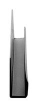 "CRL D636BL Black Electro-Static Paint 1/4"" Standard Aluminum J-Channel - 144"" Stock Length"