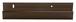 "CRL D645BRZ Bronze Anodized 1/4"" Deep Nose Aluminum J-Channel - 144"" Stock Length"