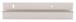 "CRL D645P Polished 1/4"" Deep Nose Aluminum J-Channel - 144"" Stock Length"