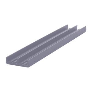 """CRL D702GRY Gray Lower Plastic Track for 1/4"""" Sliding Panels - 144"""" Stock Length"""