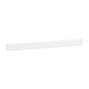 "White 1/4"" Plastic Edge Molding - 144"" Stock Length"