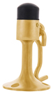 CRL DL2531PB Polished Brass Wall Mounted Heavy-Duty Door Stop with Hook and Holder