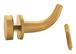 CRL DRH1BR Polished Brass Designer Robe Hook