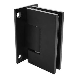 CRL GEN037MBL Matte Black Geneva 037 Series Wall Mount Full Back Plate Standard Hinge