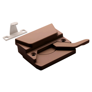 "CRL H3573 Bronze Right Hand Casement Window Lock 2-3/8"" Screw Holes"