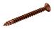 "CRL P102PC0 Polished Copper 10 x 2"" Wall Mounting Flat Head Phillips Sheet Metal Screws"