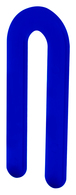 """CRL PHS16 Blue 1/16"""" x 3-1/2"""" Plastic Horseshoe Shims"""