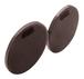 """CRL RPP2DU Dark Bronze 2"""" Round Push/Pull Set - Etched Aluminum"""