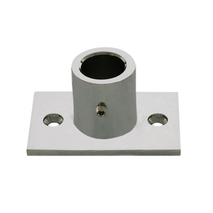 CRL S14BN Brushed Nickel Chrome Wall Mount Top Fitting