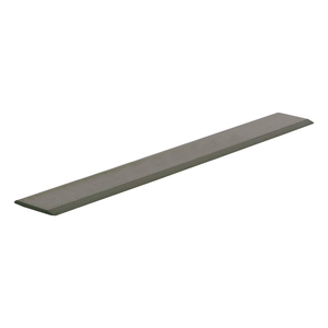 "CRL S625BN Brushed Nickel Aluminum 5/8"" Flat Face Mirror Edge Molding - 144"" Stock Length"