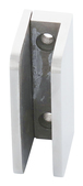 """CRL SA87FPS Polished Stainless 3/8"""" Top Flat Base Glass Clip"""