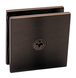 CRL SCU40RB Oil Rubbed Bronze Square Style Hole-in-Glass Fixed Panel U-Clamp