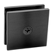 CRL SCU4MBL Matte Black Square Style Hole-in-Glass Fixed Panel U-Clamp