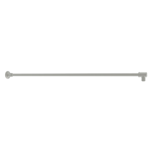 """CRL SUP10BN Brushed Nickel Frameless Shower Door Fixed Panel Wall-to-Glass Support Bar for 3/8"""" to 1/2"""" Thick Glass"""