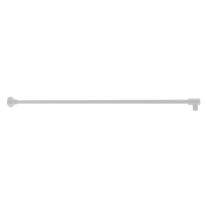 """CRL SUP10CH Polished Chrome Frameless Shower Door Fixed Panel Wall-to-Glass Support Bar for 3/8"""" to 1/2"""" Thick Glass"""