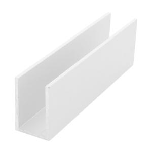"CRL WU1WSL White Wet Glaze 1-1/2"" Deep U-Channel 120"" Stock Length"