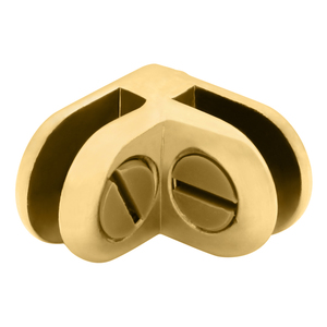 CRL ZLC2BR Brass Two-Way 90 Degree Display Connector