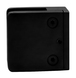"""CRL Z910MBL Matte Black Z-Series Square Type Flat Base Stainless Steel Clamp for 3/8"""" Glass"""
