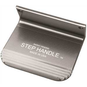 5th Axis Stephandle-1S Foot Door-Opener with Superior Grip, Silver with Satin-Coated Made of Aerospace-Grade Aluminum