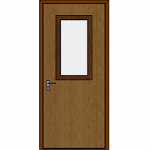 Armortex 1DFWHL Custom Wood Bullet Resistant Door And Frame Assembly With Half Lite