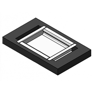 "Armortex 1RMDT1012NRB 12"" W X 10"" H Transaction Deal Tray Non-Ricochet Two Sided Non Ballistic"