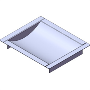 "Armortex 1RMDT1012BR3 12"" W X 10"" H Recessed Deal Tray Without Weather Flap 3"