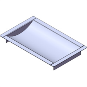 "Armortex 1RMDT1016BR1 16"" W X 10"" H Recessed Deal Tray Without Weather Flap 1"